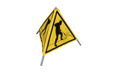 warning sign high pressure jetting works