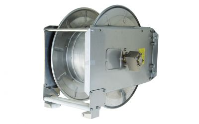 hose reel with spring winding device 37/20 stainless steel for max 37m high pressure