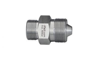 double nipple 500 bar, M22 outer thread x M26 outer thread