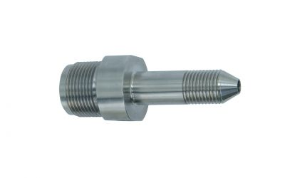 """double nipple 1800 bar, M24 outer thread x 9/16""""unf-lh outer thread"""