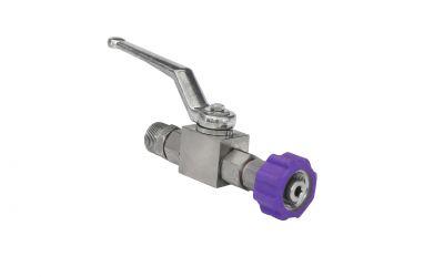 ball valve 500 bar,  60 °C, M22 outer thread x M22 inner thread,  DN 6