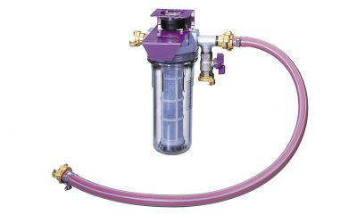 filter unit 30, 10 bar, 40 °C, 30 l/min including holder, manometer and additional water