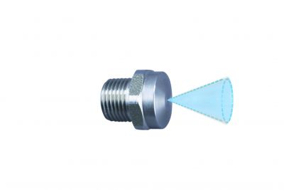 """cone jet nozzle 30° 500 bar, 1/8"""" outer thread, nozzle size 030 style 22"""