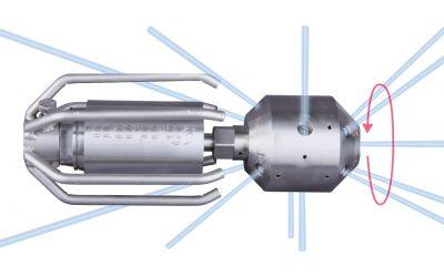 drainspeed 15, 1500 bar, max. 130 l/min, M24 x 1.5 o.thread, 4x135°/3x90°/4x45°/1x0°,