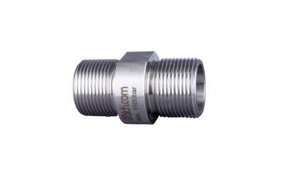 hose connector 1500 bar, M24 outer thread x M24 outer thread
