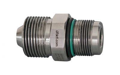 double nipple quicklock 3000 bar M30 outer thread x quicklock for machine/ gun