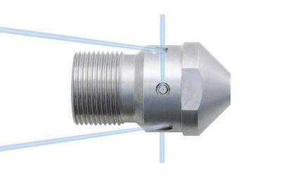 pipe cleaning nozzle drainclean 12, 1200 bar, M24 dko outer thread 2x135°/2x90°/2x150°/0
