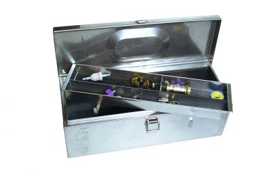 accessory case 640 x 230 x 230 mm incl. coupling kit, hose clamps, quick regulating tap,