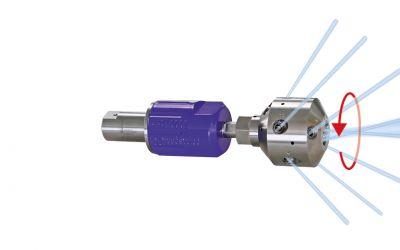 "rotor nozzle pointspeed corner30, 10/5, 3000 bar, 70 °C 9/16""unf-lh inner thread, 125kW,"