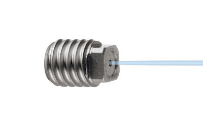 point jet nozzle 0° 2500 bar, M3 outer thread, nozzle size 0057/0,45mm for drainclean 25