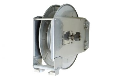 hose reel with spring winding device 17/20 stainless steel for max 17m high pressure