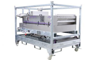 base filt 50, 50 l/min, 80 °C, filter area 1,6 m x 1 m, 400 V/50 Hz/16 A, 5,0 m, 2635 x