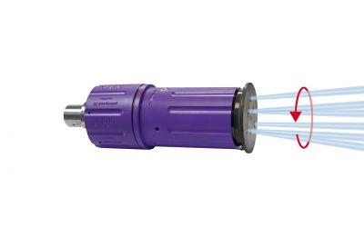 """rotor nozzle pointspeed regulation 30, 6/2, 3000 bar, 70 °C 9/16""""unf-lh in. thr., 125kW,"""