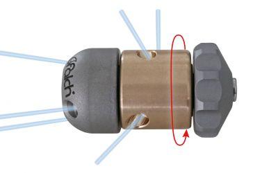 "pipe cleaning nozzle drainclean 5, 500 bar, 1/4"" inner thread"