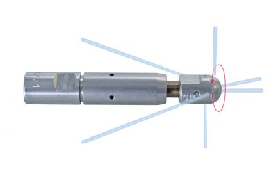pipe cleaning nozzle drainspeed 15, 1500 bar, M7 inner thread
