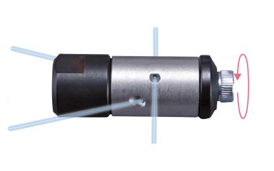 pipe cleaning nozzle drainspeed 10, 1000 bar, M7 inner thread 2x135°/2x90°/0/0 Ø11mm,