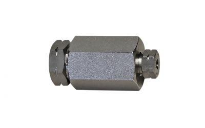 "sleeve 4000 bar, M26x1,5 9/16""unf-lh inner thread x M16x1,5 1/4""unf-lh inner thread"