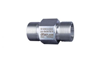 hose connector 1500bar, M36 outer thread x M36 outer thread