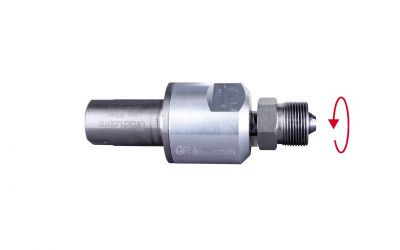 "swivel 3000 bar, 70 °C, M26 inner thread 50 l/min, 0° x 9/16""unf-lh outer thread"