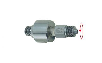 swivel 1200 bar, 60 °C, M24 outer thread 130 l/min, 0° x M26 outer thread