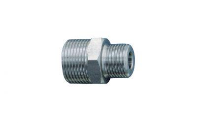 "double nipple 500 bar, M22 outer thread x 3/8"" outer thread, v2a"