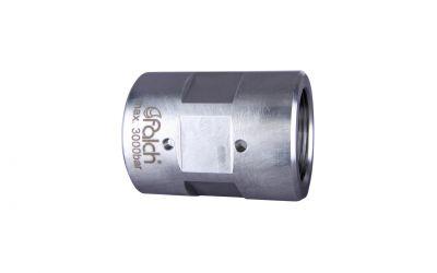 hose connector 3000 bar, M26 inner thread x M26 inner thread DN 8