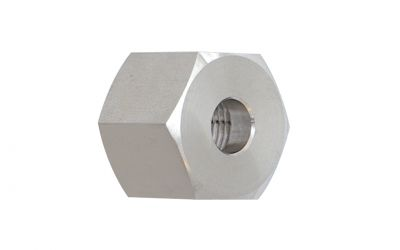 """coupling nut 500 bar, 3/8"""" inner thread for nozzle support plug in nozzles"""
