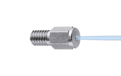 point jet nozzle 0° 500 bar, M4 outer thread  013/0,80mm (3x = 045 nozzle for sand