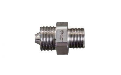 double nipple 1500bar, M26 outer thread x M24 outer thread dko for uraca hp-hose