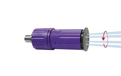 "rotor nozzle pointspeed regulation 30, 4/2, 3000 bar, 70 °C 9/16""unf-lh inner thread,"