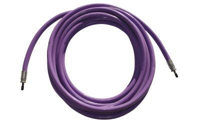 """high pressure hose nonstop 25 ph, 2500 bar, 70 °C, DN8, 9/16""""unf-lh outer thread x"""