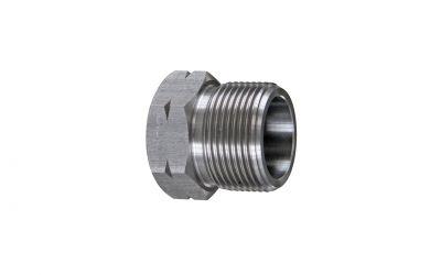 pressure screw 3000 bar, M26 outerthread x iØ14,6/ 24 mm antivibration